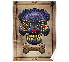 Boston Terrier Sugar skull. Poster