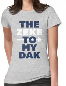 The Zeke To My Dak (Blue/White) Womens Fitted T-Shirt
