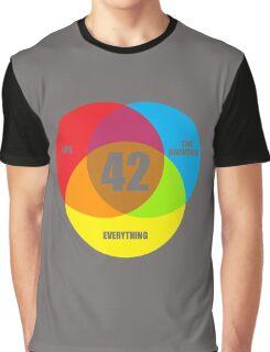 Venn Diagram Life the Universe & Everything  Graphic T-Shirt
