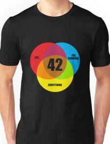 Venn Diagram Life the Universe & Everything  Unisex T-Shirt
