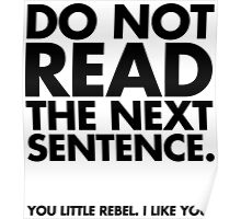 Do Not Read Poster