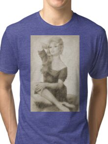 Brigitte Bardot Hollywood Icon Tri-blend T-Shirt