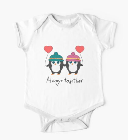 Cute penguins in love One Piece - Short Sleeve