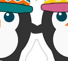 Cute penguins in love Sticker