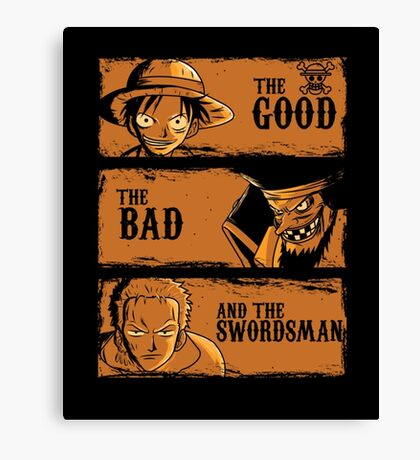 The Good,The Bad and the Swordsman Canvas Print