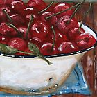 Bowl of cherries by Sonja Peacock