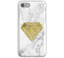 Gold diamond on marble iPhone Case/Skin