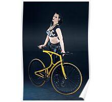 Sexy rockchick and design bike 02 Poster