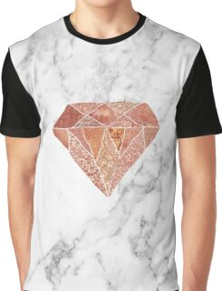 Rose gold marble diamond Graphic T-Shirt