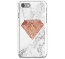 Rose gold marble diamond iPhone Case/Skin