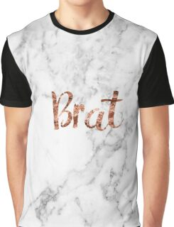 Rose gold marble brat Graphic T-Shirt