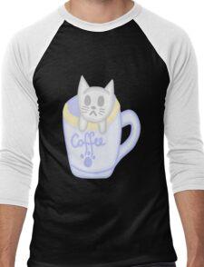 Cat in a cup  Men's Baseball ¾ T-Shirt