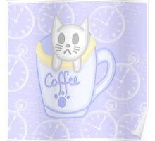 Cat in a cup  Poster