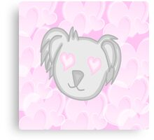 Koala in love  Canvas Print