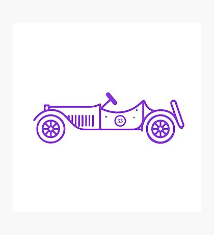 Vintage racing car  Photographic Print
