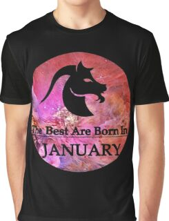 The Best Are Born In January Graphic T-Shirt