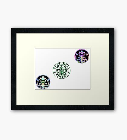 Tie Dye Cute Starbucks Pack Framed Print