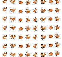 Tiny fox print by Xantippe