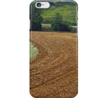 Harrowing the fields at Peyrefitte iPhone Case/Skin