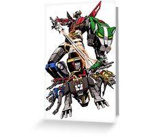 Robot Sword Team Greeting Card