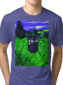 tardis in green pastures Tri-blend T-Shirt