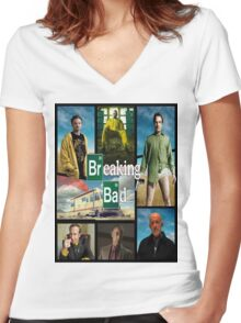 Breaking Bad GTA Style  Women's Fitted V-Neck T-Shirt