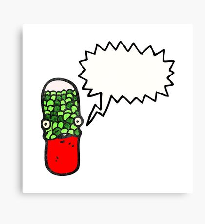 cartoon drugs capsule Canvas Print
