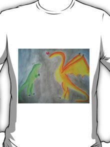 Rawrlove -- Watercolor T-Shirt