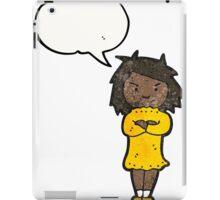annoyed girl cartoon iPad Case/Skin