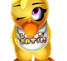Chibi Chica Chicken by ShinyhunterF