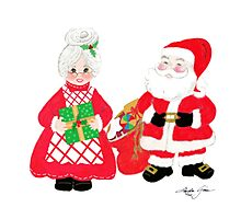 Mr. and Mrs. Santa Claus Photographic Print