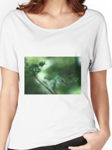 Leaf Fall On Cow Parsley. Jupiter 9 on EOS 7D Women's Relaxed Fit T-Shirt