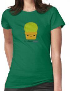 Kawaii cactus hugger Womens Fitted T-Shirt
