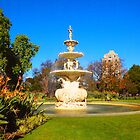 Fountain outside the Royal Exhibition Building Melbourne Vic Australia by Margaret Morgan (Watkins)