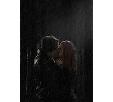 Delena Rain Kiss Photographic Print