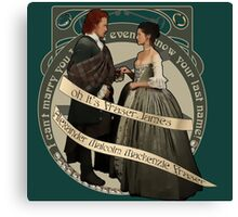 The Frasers Canvas Print