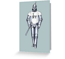 Tin Man - New York Greeting Card