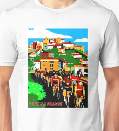TOUR DE FRANCE; Bike Race Print Unisex T-Shirt