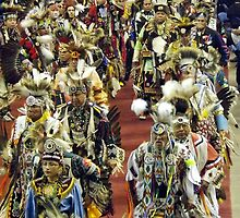 Native American Procession by Timothy  Ruf