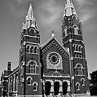 St. Joseph Church (Black and White) by Marie Sharp