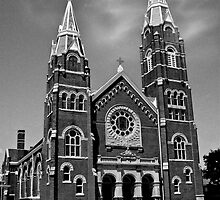 St. Joseph Church (Black and White) by Marie Sharp