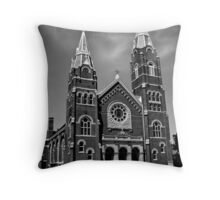 St. Joseph Church (Black and White) Throw Pillow