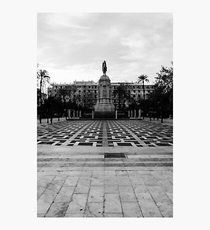Seville architecture of Plaza Nueva Photographic Print