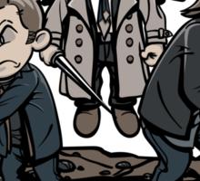 Dean and Sam and Cas Sticker