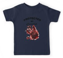 Protected By Castiel Hand Print Kids Tee