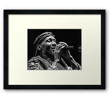 The wonderful Jimmy Cliff 0 (n&b)(t) by expressive photos ! Olao-Olavia by Okaio Créations   Framed Print