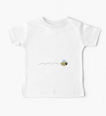 Cute bumble bee cartoon on purple background Baby Tee