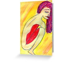 Body lips Greeting Card