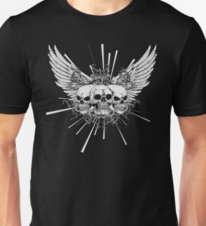 Skulls with wings Unisex T-Shirt