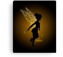 Tinkerbell Silhouette Canvas Print